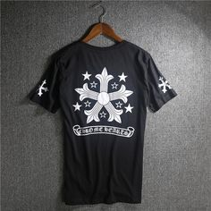33203bd0f46f Cheap Chrome Hearts Five-pointed star Printed White Cotton T-shirt