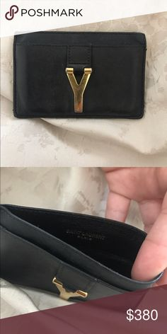 YSL card holder Black ysl card holder! Perfect for small purses!! Yves Saint Laurent Bags Wallets