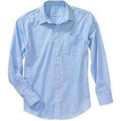 George Men's Long Sleeve Poplin Dress Shirt, Size: L3435