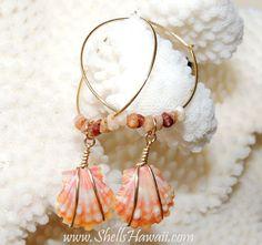 Sunrise shell earrings by ShellsHawaii on Etsy