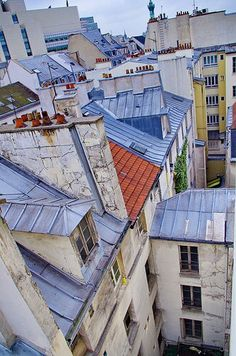 Rooftops of Paris: strange colour here, the roofs are actually grey. Paris France, Malaysia Travel Guide, Metro Paris, Paris Rooftops, Paris 11, Places In Portugal, Grand Paris, Composition Art, Beautiful Paris