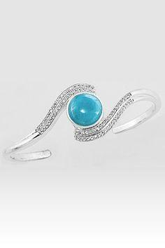 Larimarket - MarahLago Adella Collection Larimar Bracelet with White Sapphires, $654.00 (http://www.larimarket.com/marahlago-adella-collection-larimar-bracelet-with-white-sapphires/)