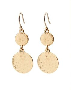HAMMERED DROP EARRING - LuckyBrand