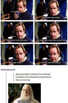 When they reminded us all that Billy Boyd IS ACTUALLY PIPPIN.