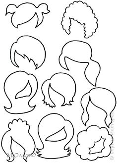 Hair outlines for broochesDiscover thousands of images about felt doll / flat dolls / princess dolls / felt dolls / felt toys / paper dolls / eco toys/ bald doll/ girl birthday/ girl toys/dress upHair outlines for brooches Felt Diy, Felt Crafts, Diy And Crafts, Felt Dolls, Paper Dolls, Sock Dolls, Rag Dolls, Fabric Dolls, Crochet Dolls