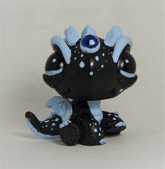 Littlest Pet Shop chibi Ice Dragon ooak custom figure LPS December Birthstone   #Hasbro