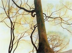 The  Beech Trunks and Branches in Spring-  Léon Spilliaert  1930  Belgian 1881-1946