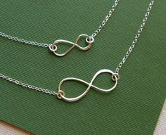 Bought this necklace set for my Mommy for Mother's Day. I am moving out in a few weeks, and these will keep us together for eternity.  Mother and daughter sterling silver infinity by jersey608jewelry, $38.00