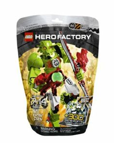"LEGO Hero Factory 6227 Breez by LEGO. $12.99. Highly flexible and poseable elements. Includes unique code worth 300 game points for LEGO Hero Factory Breakout game. Plasma shooter really shoots.. Combine with 6228 Thornraxx for an even bigger model. Features hero cuffs, rocket boots, double-bladed sabre, plasma shooter and energy shield. From the Manufacturer                ""Breez, we hope you are receiving us. The Hero Factory has been breached and the villains..."