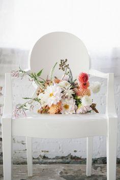 bridal bouquet; photo: Heather Hawkins Photography via The Lane