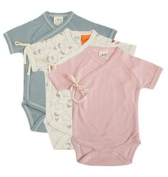 L Ovedbaby Unisex Baby Newborn Organic Short Sleeve Kimono Bodysuit