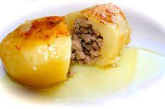 Recetas originales, divertidas, economicas y saludables: Receta Original de Patata rellena de Carne.