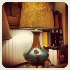 Kirkly ceramic table lamp. #lighting #midcentury