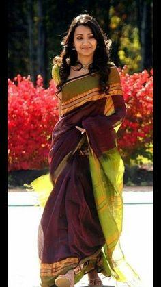 "Trisha silk cotton saree  Visit fb page "" imki trendz "" for more details"