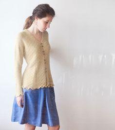 Brookline Cardi by Elizabeth McCarten Knitting Designs, Knitting Projects, Crochet Projects, Pastel Yellow, Pretty Pastel, Cardigan Fashion, Cardigans, Sweaters, Knit Cardigan