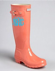 Rain Boot Monogram Decals Interlocking or by MonogramMadnessKayla, $7.50