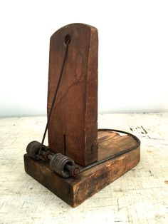 Vintage Antique Wooden And Metal Amimal Trap Company of America Victor Choker Mouse Trap Oddity Curio Curiosity by vintagewall on Etsy