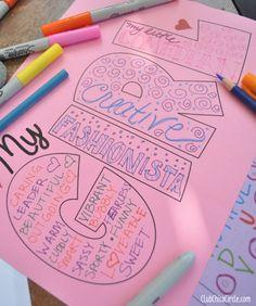 Dove Self Esteem Craft Activity for tweens - dove has AMAZING self esteem worksheets/ activities!