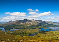 The Twelve Bens, or Twelve Pins (Irish: Na Beanna Beola), is a mountain range of sharp-peaked quartzite ranges located northeast of Roundstone in Connemara in the west of Ireland.
