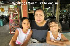 Family Lange (left) NongDin 10y (middle) Darling Sornsri (rigth) NongFaa 5y