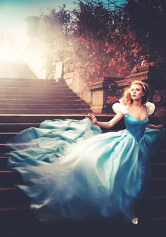 Scarlett Johansson as Disney's Cinderella (photographed by Annie Liebovitz for The Disney Company)