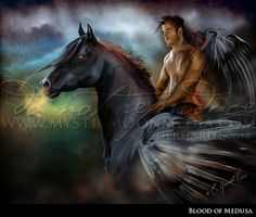 Blood of Medusa...Matted Dark Angel Art by mysticmoonmedia on Etsy