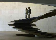 stairs at Palácio Itamaraty by Oscar Niemeyer, Brasília, Brazil