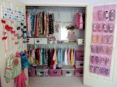 Preteen bedroom, preteen girls rooms, little girl Preteen Girls Rooms, Preteen Bedroom, Little Girl Rooms, Girls Bedroom, Bedroom Ideas, Bedroom Decor, Girls Closet Organization, Closet Storage, Organization Ideas