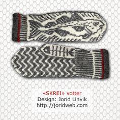 Klikk for å lukke bildet Knit Mittens, Mitten Gloves, Double Knitting Patterns, Textiles, Fair Isle Knitting, Drops Design, Yarn Needle, Hand Warmers, Crochet Clothes