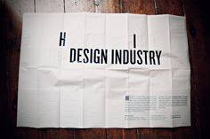 CV poster. by Benoit Ollive, via Behance