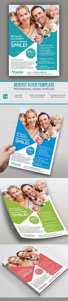 Kids Dental Flyer Templates Flyer Template Dental And Template