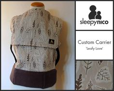 'Leafy Love' is a custom made toddler-sized carrier from Sleepy Nico. When their little legs tire, there's no better way to reconnect, after all, our toddlers need just as many cuddles as when they were babies. Ergonomic Baby Carrier, Cuddles, Crochet Hats, Babies, Legs, Knitting Hats, Babys, Infants, Infant