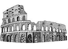 colosseum Rome #doodle