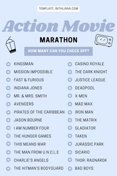 Action Movies Necessary To Watch