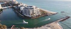 "Boca Raton Inlet seen from the ultra luxury ""One Thousand Ocean"" condominium complex (Boca Raton, Florida)"