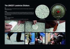 Unicef: Landmine stickers