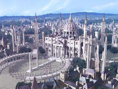 Fantasy City, Fantasy Castle, Fantasy Places, Medieval Fantasy, Fantasy World, Fantasy Art Landscapes, Fantasy Landscape, Fantasy Concept Art, Fantasy Artwork