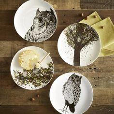 adorable owl dessert plates.. $8