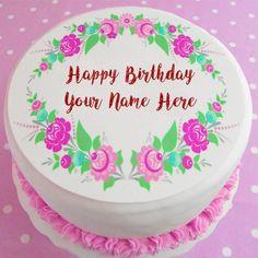 Write Name Beautiful Design Birthday Cake Image. Online Birthday Name Cake. Latest Happy Birthday Cake. Free Names Print Birthday Cakes Photos