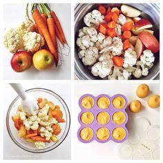 Healthy Apple, cauliflower & carrot baby purée - homemade babyfood