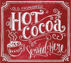 I loved this so much that I bought one! (Gotta have my hot chocolate station every Christmas) Noel Christmas, Christmas Signs, Country Christmas, All Things Christmas, Winter Christmas, Vintage Christmas, Christmas Crafts, Christmas Decorations, Christmas Phrases