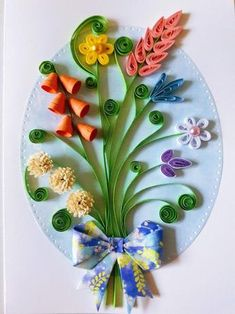 Quilled Greeting Card with flowers 2 Quilled Greeting Card with flowers 2 Brigitte b Quilling Beautiful handmade quilled card with multicolor flowers Each detail on this nbsp hellip day cards flowers Quilling Birthday Cards, Paper Quilling Cards, Arte Quilling, Paper Quilling Flowers, Paper Quilling Jewelry, Quilled Paper Art, Paper Quilling Designs, Quilling Craft, Quilling Ideas