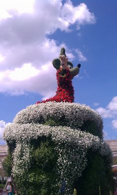 Sorcerer Mickey Mouse. Epcot's Flower & Garden Show 2012 at Walt Disney World Resort