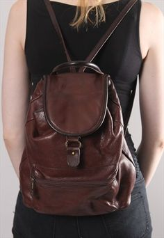 70c9602709 garment image Brown Leather Backpack