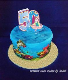 50th Birthday Fishing Cake