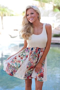 A True Romantic Lace Inlay Dress from Closet Candy Boutique #fashion #ootd #spring