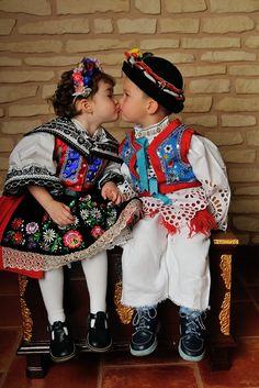 National costume worn by Slovakian kids. Vietnam Costume, Art Populaire, Beauty Around The World, Living Dolls, Circle Of Life, Folk Costume, Bohemian Gypsy, Beautiful Children, Beautiful Patterns