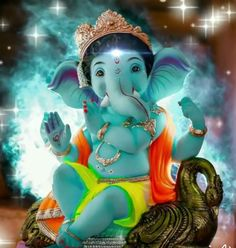 Ganesha Pictures, Ganesh Images, Radha Krishna Images, Krishna Art, Lord Krishna Hd Wallpaper, Happy Holi Images, Ganesh Idol, Ganesh Statue, Happy Ganesh Chaturthi