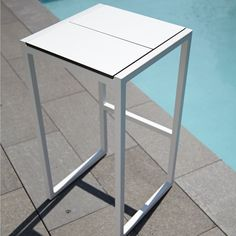 Skiff Outdoor Bar Stools by Blu Dot, white only