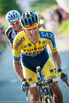 Rafal Majka (Tinkoff-Saxo) on the attack in the final lap. Photo credit © Tour de Pologne